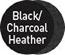 Black/Charcoal Heather