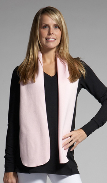 Custom Sueded Micro Fleece: 100% Polyester - Sueded Micro Fleece Serged Scarf